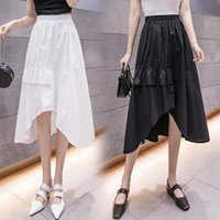 Skirts Design Feeling Small Irregular Long A Words In The Spring And Summer Women Show Thin Fairy Pleated Skirt