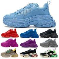 الرجال النساء الثلاثي الأحذية الاحذية باريس 17fw السماء الزرقاء خمر أحذية رياضية الرجعية 2021 مصممين الأزياء منصة الركض المشي المدربين في الهواء الطلق الحجم 36-45