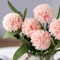 Decorative Flowers & Wreaths Artificial Dried Wedding Ball Chrysanthemum Vases For Home Decor Fake Plants Christmas Household Carnation