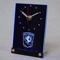 Wall Clocks Tnc1005 FC Twente Enschede Eredivisie LED Neon Sign 3D Table Desk Clock
