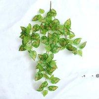 الحرير الأخضر الاصطناعي شنقا ورقة حديقة ديكورات 8 أنماط غارلاند النباتات كرمة القيقب العنب أوراق DIY EWE6002
