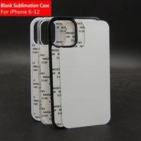 Blank 2D Sublimation TPU PC Phon Cases per iPhone 11 12 Pro Max 6 7 8 XR XS Case con inserti in alluminio