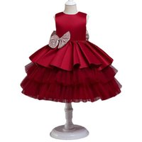 Girl's Dresses Baby Girls 1st Birthday Casual Clothes Lace Princess Pettiskirt Tutu Party Formal 0-5T B5219