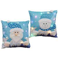 Chirstmas Luminous Santa Claus Pillow Case Snowman LED Colorful Light Fashion Pillowcase Party Home Car Sofa Decoration 45*45cm G78ZMDZ