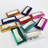 Eyelash Packaging Box 3D Mink Eyelashes Box Laser False Eyelash Case Package 3 styles Without Tray
