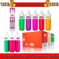100% Quaity Flum Float Float Desechable E Kit de cigarrillos 3000puffs Vape Pen 800mAh Dispositivo de batería de 800mAh 8.0ml Vaporizadores de cartucho Vaporizadores de fábrica al por mayor