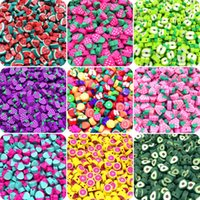 30pcs lot 10mm Fruit Mixed Color Polymer Clay Spacer Beads For Jewelry Making DIY Bracelet necklace