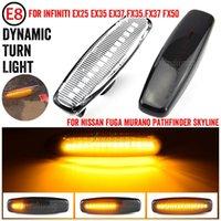 Acil Durum Işıkları Için Infiniti EX25 EX35 EX37 FX35 FX37 G25 G35 Q40 Q60 Q70 QX50 QX70 M25 M37 JX35 LED Dinamik Dönüş Sinyali Işık Yan İşaretleyici