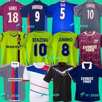 2000 2008 2009 2009 2010 2010 Lyon Retro Soccer Jerseys Benzema Juninho Ederson Pjanic Vintage Futbol Kit Classic 2001 2002 2011 2012 2013 Lyonnais Home Thouse كرة القدم قميص