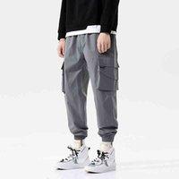 Брюки уличная одежда бедра грузовые мужские бегуны многокарманские черные брюки Harajuku Sportswear повседневные спортивные штаны мужской