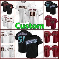 51 Randy Johnson Jersey personalizzato Arizona Diamondbacks di baseball.56 Kole Calhoun 5 Eduardo Escobar 4 Ketel Marte Jackie Robinson