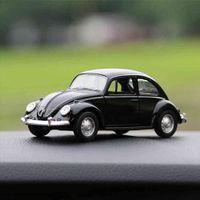 زخرفة سبيكة خمر نموذج سيارة الديكور دمى السيارات خنفساء لطيف الرجعية السيارات الداخلية لوحة ألعاب لعب اكسسوارات هدية