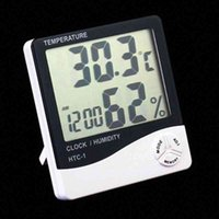 HTC-1 High accuracy LCD Digital Thermometer Hygrometer Indoor Electronic Temperature Humidity Meter Clock Alarm Weather Station 50pcs c2Py#