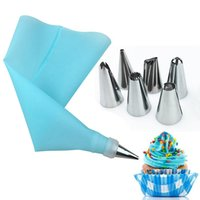 Piece Set Cake Tools 6 Stainless Steel Nozzles And Silicone ...