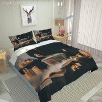 Bedding Sets 3D Scenery Pattern Set Soft Microfiber Plant Duvet Cover Queen King Size Quilt With Pillowcase 2 3pcs