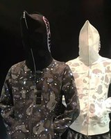 Европейские и американские дизайнеры Японский хип-хоп Классический модный бренд камуфляж лоскутная капюшона, мужская и женская свободная пальто с капюшоном