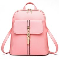 HBP high quality Soft leather Women Backpacks Large Capacity School Bags For Girl ShoulderBag Lady Bag Travel Backpack Pink