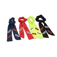 Hair Accessories Denim Loop Scrunchie Elastic Bands Solid Color Women Girls Ponytail Holder With Sunglasses Accessorie