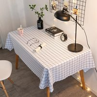 Table Cloth !! Fresh Style Plaid Printed PVC Waterproof And Oil Proof Tablecloth