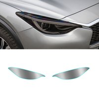 Pour Infiniti QX30 (H15) 2015-2019 Phare de voiture Teinte Noir Protection du film Protecteur Transparent TPU TPU Vinyl enveloppeur Agrandir Accessoire