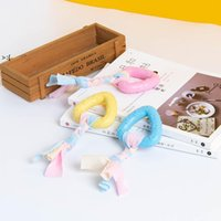 Pet toys dog chew TPR rope knot toy bite resistant molar teeth cleaning rubber dogs training pets supplies OWE9794