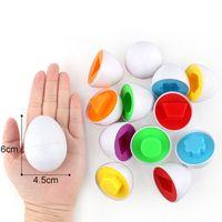 6 teile / satz Twisted Egg Toys Frühbild Math Spielzeug Mischform Zufällige Farbe Kinder Nizza Geschenke Ei Match Toys Set