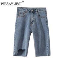 Pantalones cortos de mujer Wesay Jesi Fashion 2021 VERANO Denim High High Hole Slim Half Short Jeans Bolsillos Streetwear Streetwear