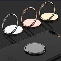 50 peças Celular Telefone Celular Titular Titular de Luxo Metal Universal 360 Graus Rotação de Dedo Soquete Titulares Magnéticos Carro Suporte Suporte Acessórios