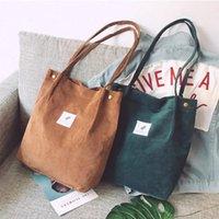 Сумки для женщин 2021 Corduroy Сумка на плечо Многоразовая покупка Повседневная сумка Женская сумочка определенное количество капель