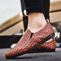 Whoholl Marque Haute Qualité En Cuir Hommes Casual Chaussures Summer Homme Respirant Résistant Vide Hommes Chaussures Soft Fond Taille 39-44 222