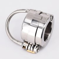 Cockrings Ball Locking & Penis Bondage Stainless Steel Chastity Device Balls Stretcher Scrotum Rings Sex Toys For Men