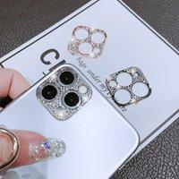 Алмазные объектива камеры Protttors для iPhone 12 Pro Max 12mini 11Pro роскошный горный хрусталь сотовый телефон чехлы экрана защитная крышка