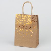 2pcs Kraft Paper Bags Gift With Handle 15cm X8cm X21cm Hand-Held Cookie Packaging Wedding Party Favor Boxes Wrap