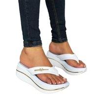Slippers Women High Heels Thick Bottom Slides Summer Casual Beach Shoes Big Size Wedge Platform Sandals Mules Slipper Female Flip Flops