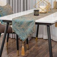 럭셔리 폴리 에스터 자카드 우아한 테이블 주자 가정용 테이블 토퍼 장식 커피 테이블 TableCloth 33x160cm