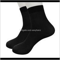 Underwear Apparel Drop Delivery 2021 1 Pair Summer Thin Socks High Elastic Wearresistant Cool Business Mens Short Stockings 2Dot261 Dx0Sc