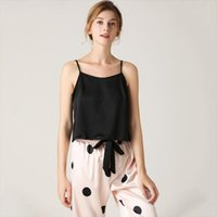 Sexy Strap Top Amp Pants Women Sleepwear Satin Nightwear Intimate Lingerie 2pcs Pajamas Suit Silky Home Clothes Sleep Set