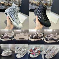 2021 Designer B22 B23 Scarpe casual oblique High Low Top Sneakers Obliqui Ricamo Tecnico Embroidery Fiori Traineri Scatolari in pelle da esterno Scatola da scarpe Accessori