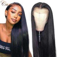 Pelucas del cabello humano del frente del frente del encaje recto del hueso 180% de densidad pre arrollada 13x4 peluca brasileña 4x4 Cierre