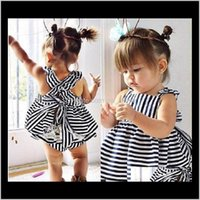 Ins Sell Baby Kids Clothing Adorable Girls Clothes Princess White Blue Dress Pp Pans 2Pcs Sets Babies Tops Pants Outfits Lovely Xml3D 3Niyb