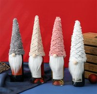 Christmas Gnomes Wine Bottle Covers Handmade Swedish Champagne Toppers Holiday Home Decorations dd619
