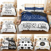 Print Luxury Bedding Sets Letters Animal Cartoon Cat Cute Duvet Cover Pillowcase 2 3pcs Twin Queen King Size Bed Clothes Home