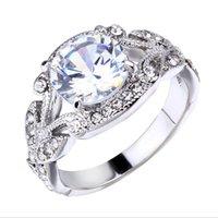 Princess Anillo Rhinestone Jewelry Tree Leaf Inlaid Aley Finger Decoration For Women LL @ 17 Anillos de boda