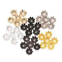 100 pz / lotto 8 10 mm Silver Lous Flower Metallo Spacer Spacer Spacer Bads Cono End Beaks Cap Filigrae per gioielli fai da te trovare la ricerca di 2965 q2
