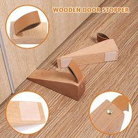 Mats & Pads Convenient Door Stopper Solid Wood Heightened Creative Wooden Anti-collision Stop Kitchen Dining Home Special Tools #5