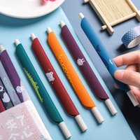 Gel Pens 1PCS 0.5mm 3 In 1 Multifunction Retro Color Pen Ruler Bookmark Office School Writing Supplies Student Stationery