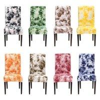 Graffit-Druck-Stuhl deckt Spandex-Streifen-Stretch-elastische Abdeckung des Essens modern abnehmbar für die Küchenhochzeit