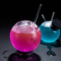 Cocktail Glass Creative Sphere Shaped Reusable Drinking Straw Cup Wine Juice Glasses Coffee Tumbler For Bar Home Party