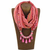 Collana della sciarpa del ciondolo del pendente della boemia della boemia della moda per le donne Nuovo 2021