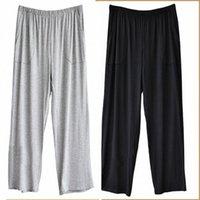 Pantalones casuales modales de algodón para hombres de gran tamaño 2020 Pantalones de verano nuevos pantalones para hombres suaves más fertilizantes 8xl Super elástico B2Ji #